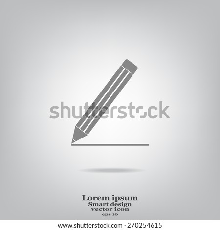pencil icon, vector illustration - stock vector