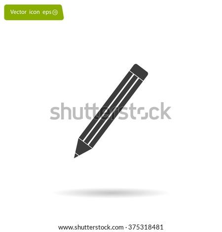 pencil icon , vector illustration - stock vector