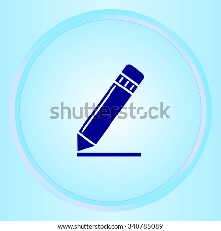 Pencil icon, vector illustration. Flat design style - stock vector
