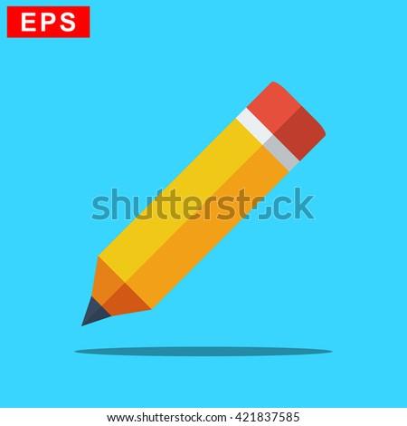 pencil icon, vercor drawing tool icon, isolated pen icon - stock vector