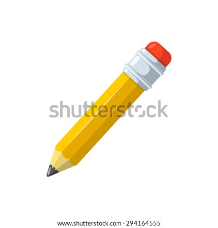 Pencil. Isolated icon pictogram.  - stock vector