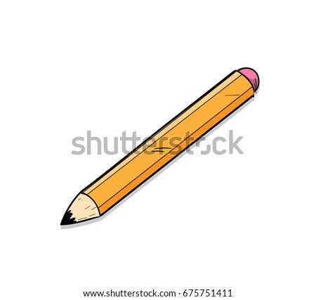 Pencil Icon Pencil Isolated Vector Pencil Stock Vector ...