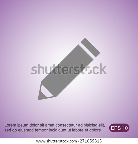 Pencil vector icon - stock vector
