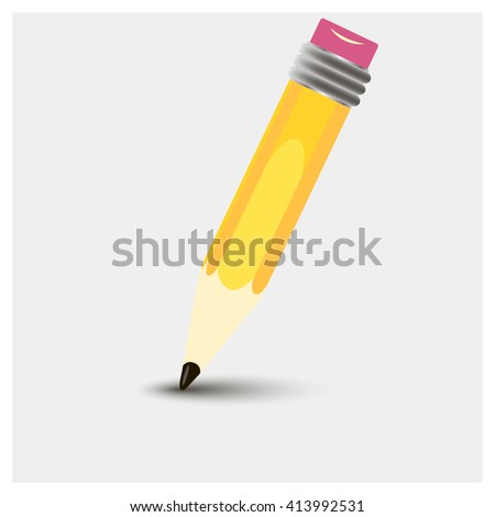 Pencil vector icon.