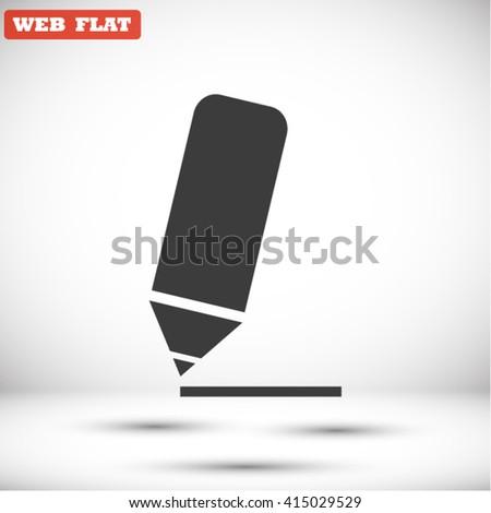 Pencil vector icon 10 EPS - stock vector