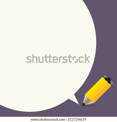 Pencil writes Development dialog box messages for school, a message to the chat, social networks, a new idea, vector illustration purposes. - stock vector