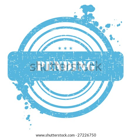 Pending stamp isolated on white with grunge texture - stock vector