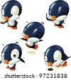 penguin mascots - stock photo