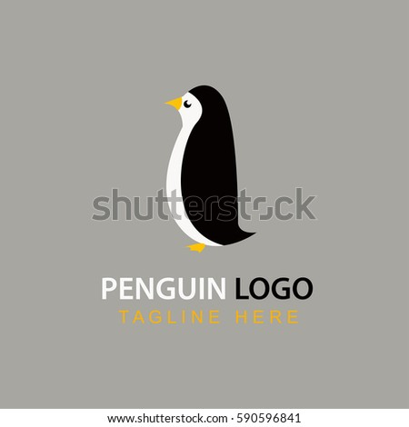 Penguin Template Logo Stock Vector 590596841 - Shutterstock
