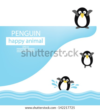 Penguin vector illustration - stock vector
