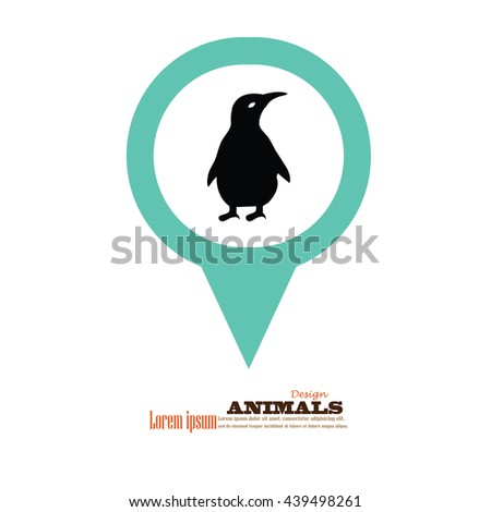 penguin.vector illustration. - stock vector