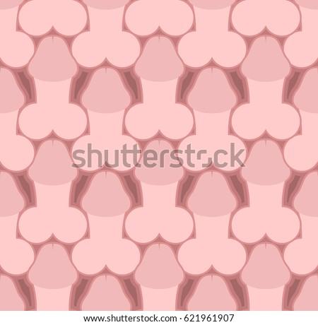 Penis Seamless Pattern Body Part Texture Vectores En Stock 621961907 ...