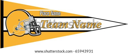 pennant Football team Yellow - stock vector