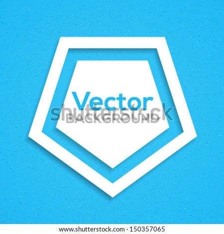 Pentagon background. Vector illustration. - stock vector