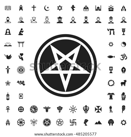 Pentagram Icon Illustration Isolated Vector Sign Stock Vector