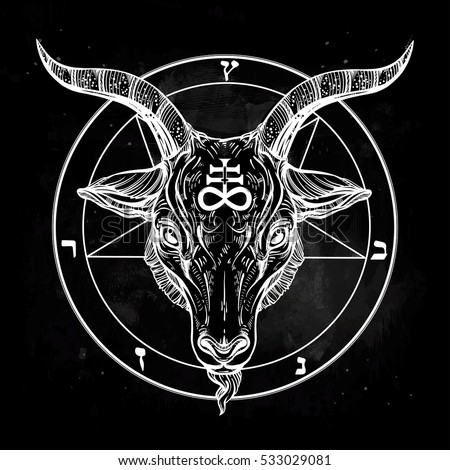 Satan stock images royalty free images vectors for Baphomet tattoo meaning