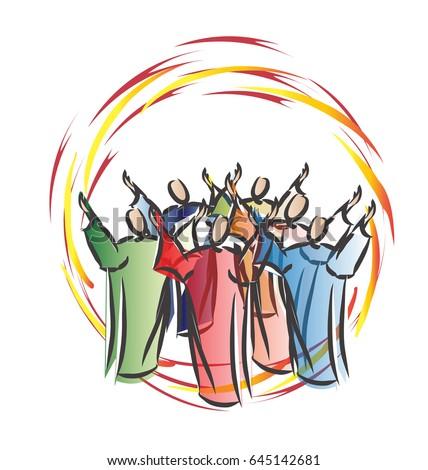 pentecost descent holy spirit form tongues stock photo photo rh shutterstock com  day of pentecost free clip art
