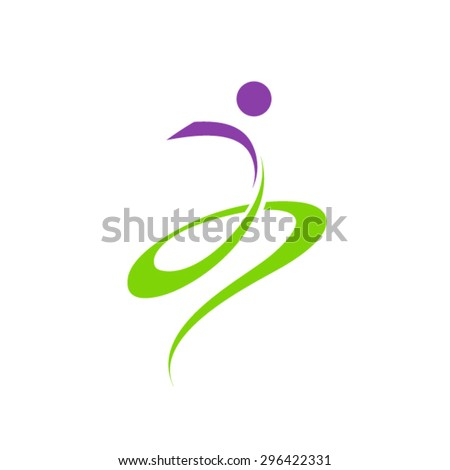 People Abstract Logo - stock vector