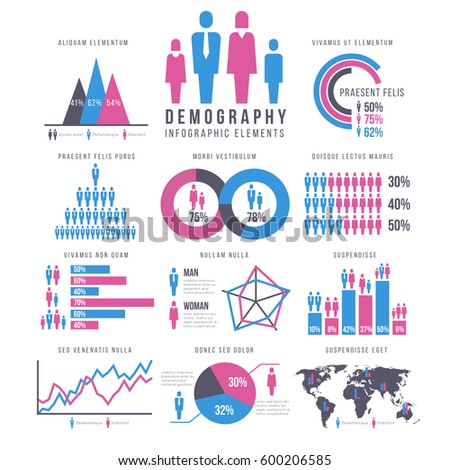 People, adult and child, human, people, family infographics vector signs and charts
