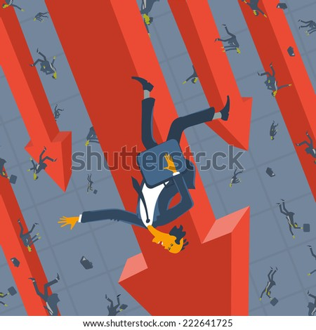 People and Economic crisis - stock vector