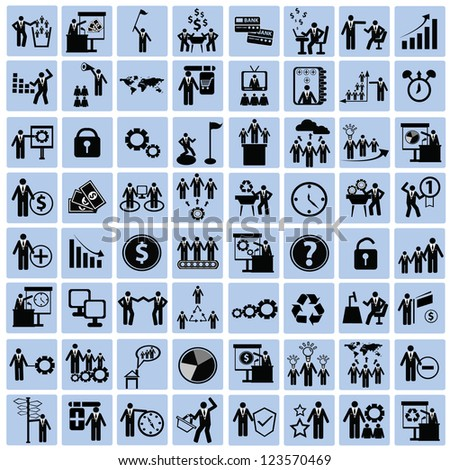 People and human resource,business concept icon set,Vector - stock vector