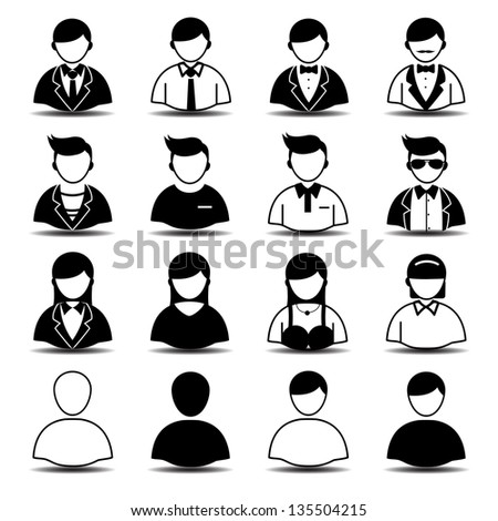 People and user icons - stock vector