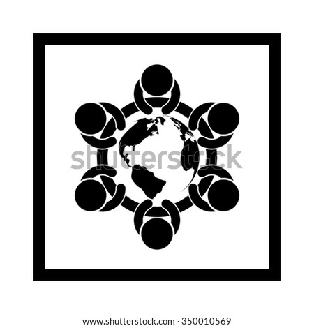 people around the table icon vector illustration eps10. - stock vector