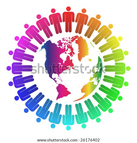 People around the world - stock vector