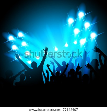 People at a Concert - stock vector