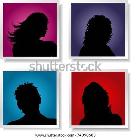 People avatars - stock vector