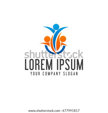 People business consulting logo teamwork communication for Design consultant company