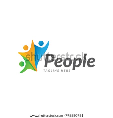 people care logo icon vector template