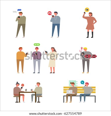 people character vector illustration flat design