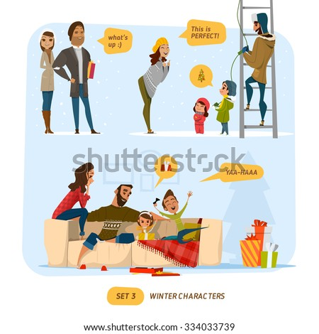People characters set - stock vector
