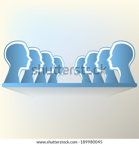 People communication and social media concept art. - stock vector