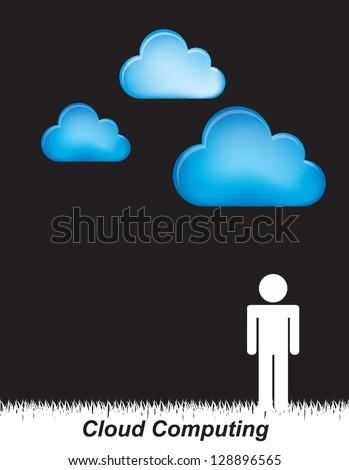 People communication over black background vector illustration - stock vector