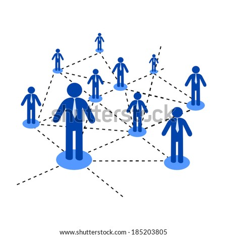 People Connected - stock vector