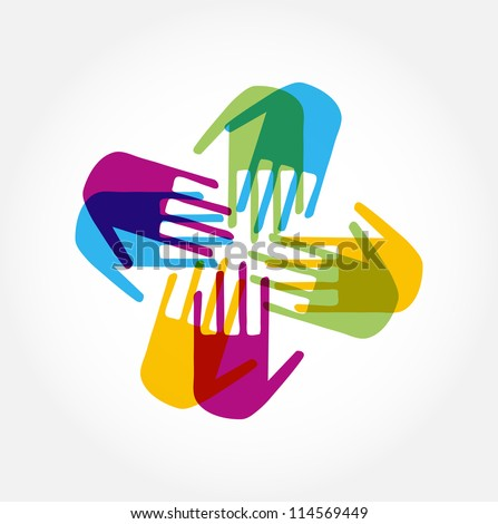 People Connected icon - stock vector