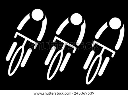 People Cycling Icon. Vector - stock vector