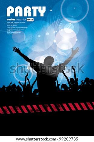 People dancing - stock vector