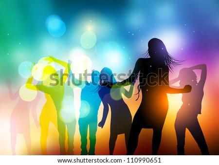 People Dancing Vector - vector illustration. - stock vector