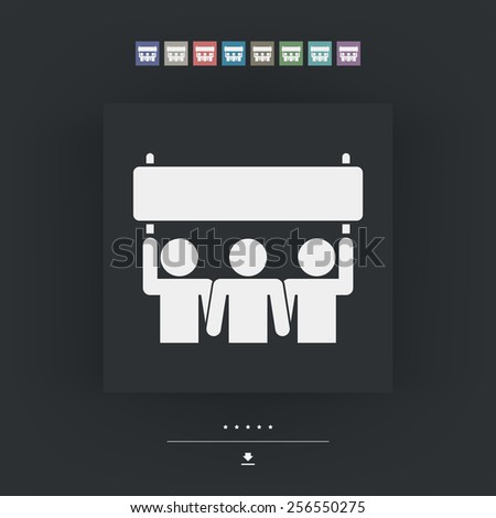 People demonstration icon - stock vector