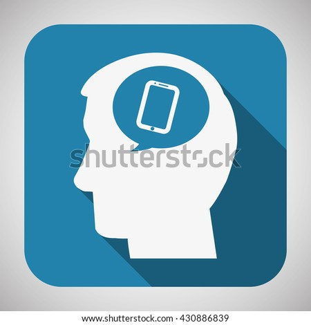 People design. Media icon. Isolated illustration , vector