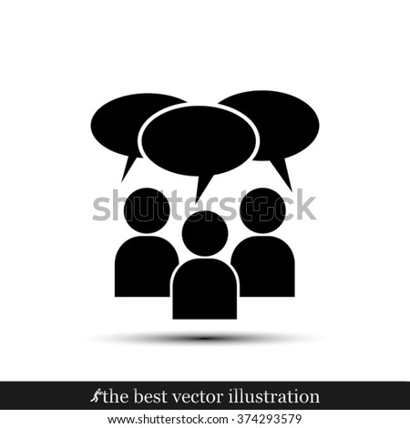 people dialog icon - stock vector