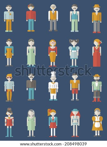 People different profession. People Flat  set - stock vector
