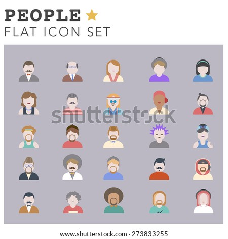 People Diversity Portrait Design Characters Avatar Vector - stock vector