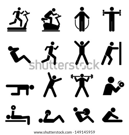 People exercising for health and fitness - stock vector