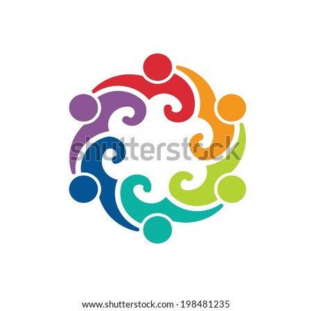 People Group 6 meeting - icon vector - stock vector