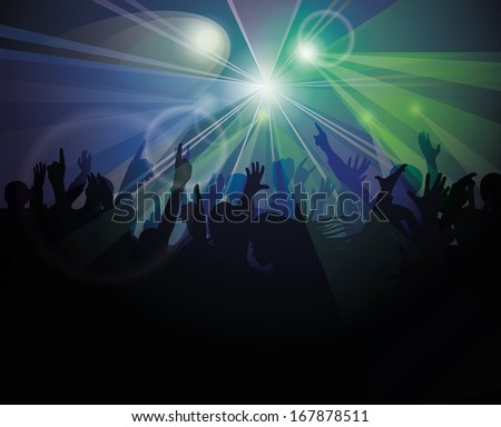 People having fun at nightclub  - stock vector