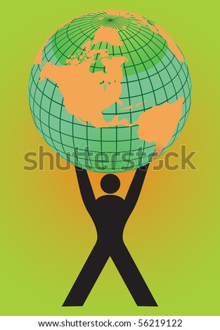 People holding Earth globe - stock vector